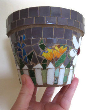 Mosaic Pot Flower Planter Terracotta Garden Home Decoration Broken China