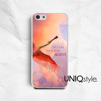 Life quote typo iPhone Samsung phone case, iphone 4 4s iphone 5 5s iphone 5c samsung galaxy s3 s4 note2 note3, bird flying colorful sky, E76