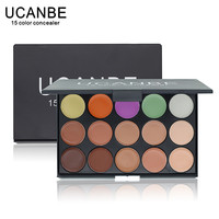 UCANBE Brand New 2015 Hot Sale Special Professional 15 COLOR Concealer Facial Care Camouflage Makeup Palette