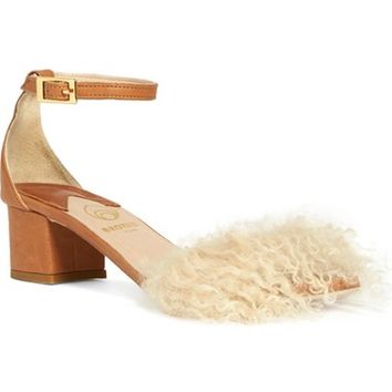 Brother Vellies 'Tufted Dhara' Genuine Shearling Ankle Strap Sandal (Women) | Nordstrom