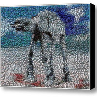 Amazing Framed Star Wars At-At Bottlecap mosaic print