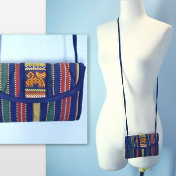80s Mexican Wallet / Ethnic Purse / Clutch Purse / Small Purse