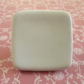 Ceramic Knob Dresser Knob Drawer Knobs Pulls Handles Cabinet Knobs / Square White Kids Furniture Knob Pull Handle Kitchen Hardware Unique