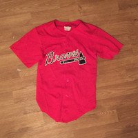 Braves Vintage Jersey Unisex Top tshirt Tee Baseball shirt Clothing