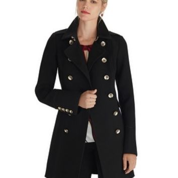 White House | Black Market Long Double Breasted Military Coat
