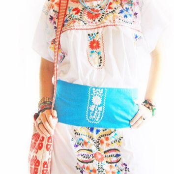 Mexican embroidered Wide Belt