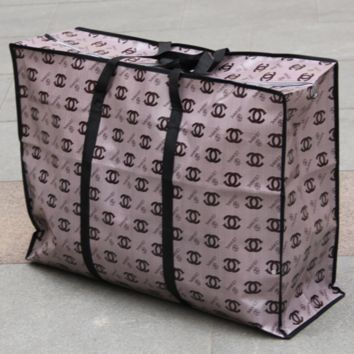 Chanel cartoon film woven bag extra thick duffle bag moving shipping packaged bag