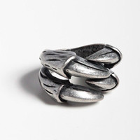 Claws Coming Out Ring in Silver