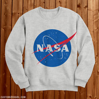 NASA Logo Heather Grey Sweater