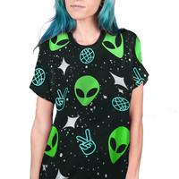 ALIEN PEACE - ALL-OVER PRINT TEE