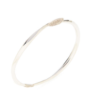 Alexis Bittar Fine Women's Silver & Grey Diamond Marquise Bangle - Silver