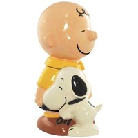 Westland Giftware Peanuts Charlie Brown and Snoopy Cookie Jar, 13-Inch
