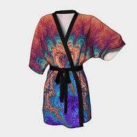 Design: The Range of Strange - Kimono Robe, Robe, Bath Robe, Lounge Wear, Spa Robe, Coverup, Swim Coverup, Gift for Him/Her, Gift Idea