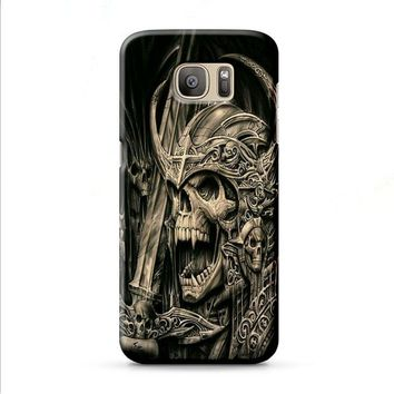 death skull gold Samsung Galaxy J7 2015 | J7 2016 | J7 2017 case