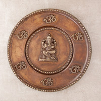 Antique Ganesh Wall Plate