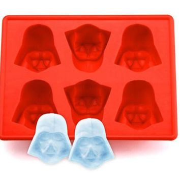 Fun Star Wars Darth Vader Cocktails Silicone Mold Ice Cube Tray Chocolate Fondant Mould diy Bar Party Drink SQ149