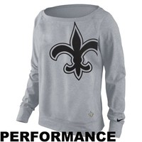 Nike New Orleans Saints Ladies Wildcard Epic Crew Sweatshirt - Gray