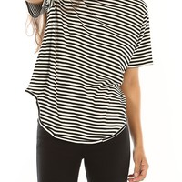 Button Back Striped Top