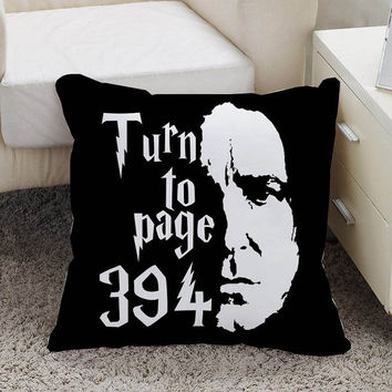 Turn to page 394 harry potter Pillow case size 16 x 16, 18 x 18, 16 x 24, 20 x 30, 20 x 26 One side and Two side