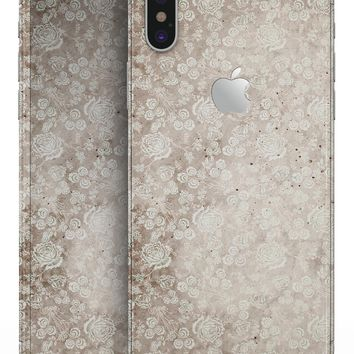 Grungy Faded Floral Pattern  - iPhone X Skin-Kit