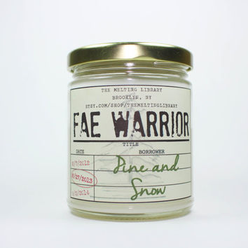 Fae Warrior - Rowan Whitethorn Throne of Glass Inspired Candles
