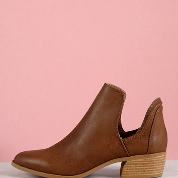 Almond Toe Cowgirl Bootie | MakeMeChic.COM