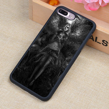 Gothic Angel Skull  Style Soft Rubber Back Case Cover For iPhone 6 6S Plus 7 7 Plus 5 5S 5C SE 4 4S Mobile phone bag