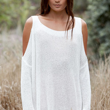 Reverse Slouchy Fireside Cold Shoulder Sweater at PacSun.com