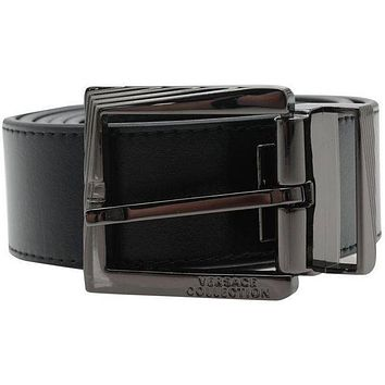 Versace Collection men's black belt 95-110 - Made in Italy