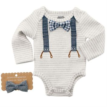 MUD PIE INTERCHANGEABLE BOW TIE CRAWLER