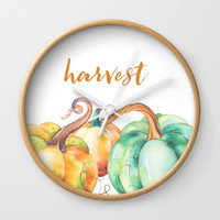 harvest Wall Clock by Sylvia Cook Photography
