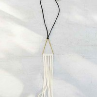 Moon And Arrow Triangle Fringe Necklace- Assorted One