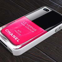 Pink Nail Polish - Print On Hard Cover - For iPhone 4, 4S, and iPhone 5 Case - Black, Clear, and White