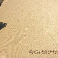 Awesome 8ft ( 240 cm ) Crochet Natural Jute Rug, Braided Round Rug, Large Area Rug
