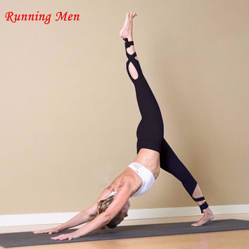 High Waist Stretched Sports Pants Gym Clothes Spandex Running Tights Women Sports Leggings Fitness Yoga Pants