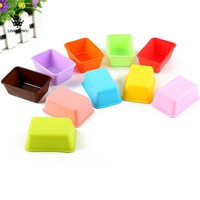 New Arrival Eco Silicone Toast Cake Bread Mold Rectangle Shape Soap Mould Kitchen Baking Tools Muffin Cups