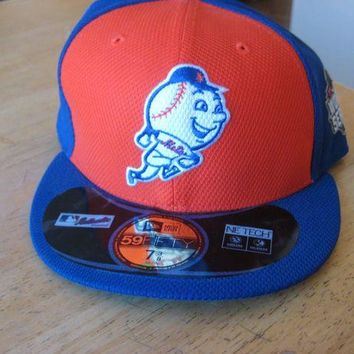 VONEXO9 New Era New York Mets 59Fifty World Series baseball hat cap 7 3/8 5950 Mr Met