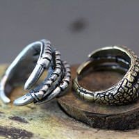 Retro Burnished Eagle Toe Ring Animal Jewelry 7.5 Size Color Select Unique Ring Halloween Item 1piece