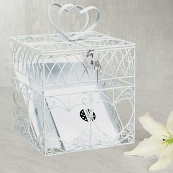 Heart Metal Wedding Card Holder Box 8in | Party City