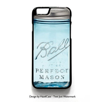 Mason Jar for iPhone 4 4S 5 5S 5C 6 6 Plus , iPod Touch 4 5  , Samsung Galaxy S3 S4 S5 Note 3 Note 4 , and HTC One X M7 M8 Case Cover