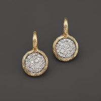 Bloomingdale'sPavé Diamond Circle Drop Earrings in 14K Yellow Gold, .75 ct. t.w.