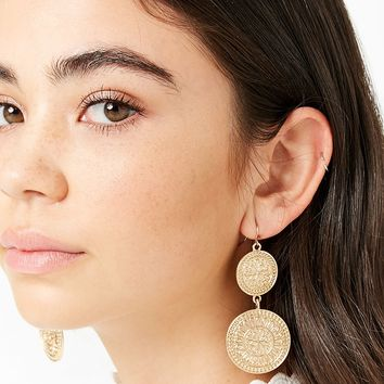 Ornate Circle Drop Earrings