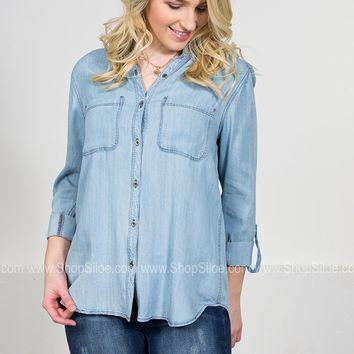 Chevy Pale Denim Top