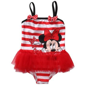 Toddler Kids Swimming Costumes Baby Girls One Piece Swimwear Beach Monokini Swimsuit Bathing Suit Beachwear