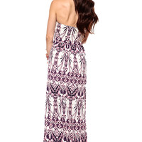 Navy Luminate Maxi Dress