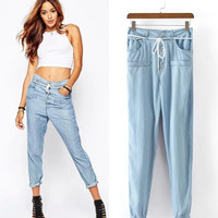 Women's Fashion Stylish Jeans High Rise Skinny Pants [5013203012]