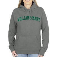 William & Mary Tribe Ladies Basic Arch Pullover Hoodie - Gunmetal