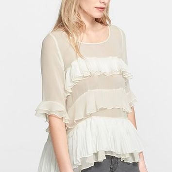 Women's Rebecca Taylor 'Mosaic' Fil Coupe Top