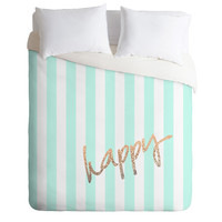 Monika Strigel Pretty Happy Mint Duvet Cover