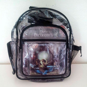 Vintage 90s Clear Vinyl Backpack
